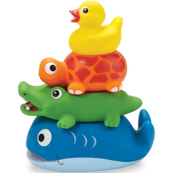 Stackable Rubber Bath Toy Set