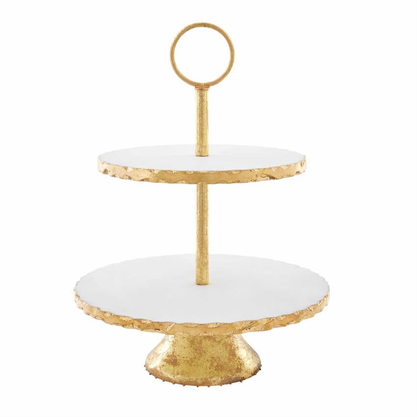 Marble Gold Trimmed Tiered Server