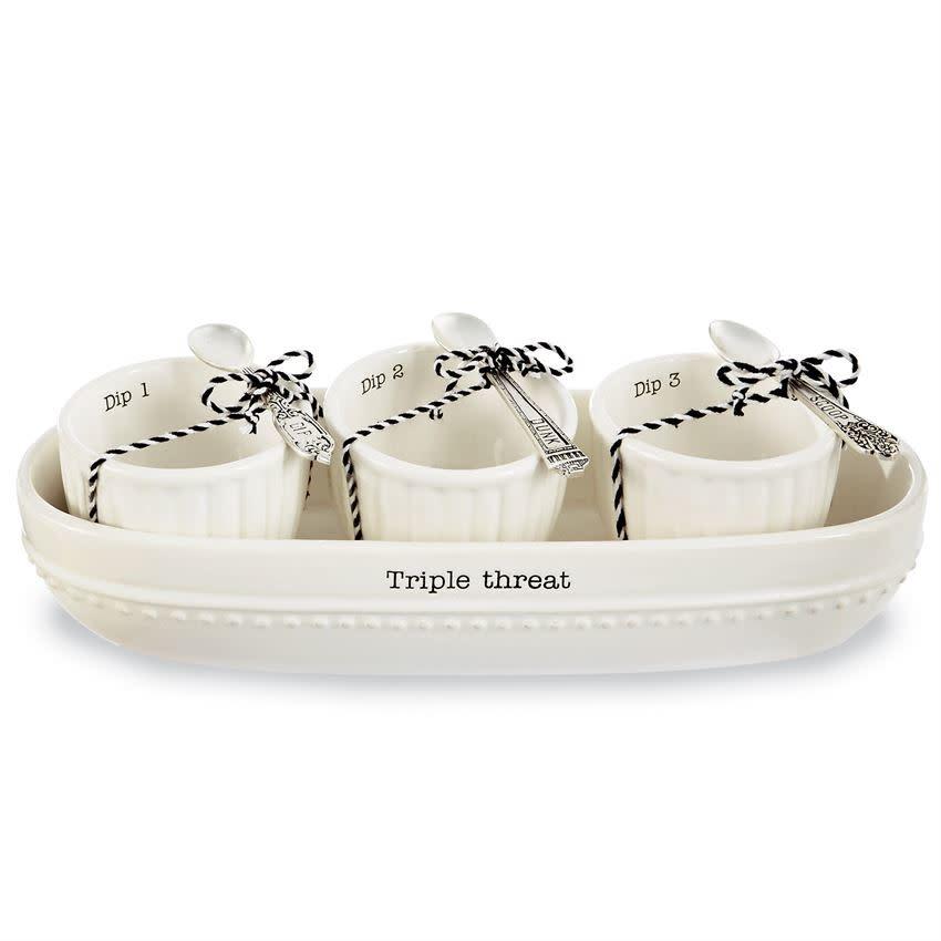Dip & Cracker Bowl Set