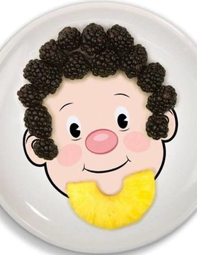 Food Face Dinner Plate GUY