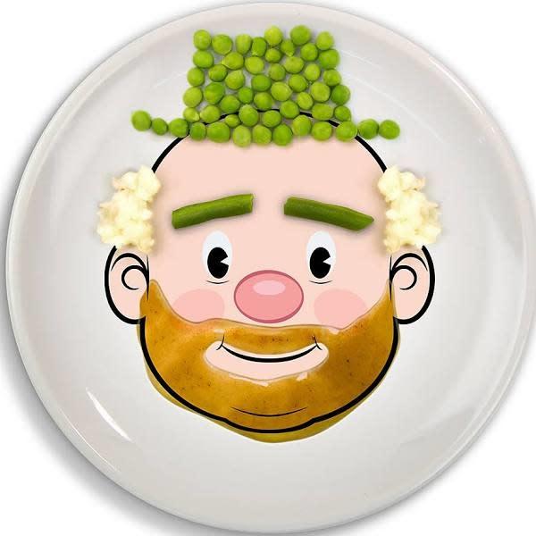 Food Face Dinner Plate GUY