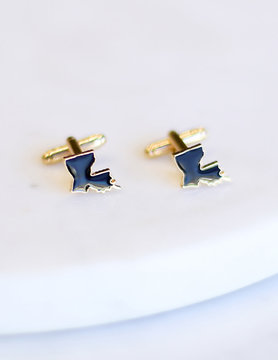 Louisiana Cufflinks BLK/GOLD