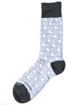 Men's Louisiana Pride Socks Gray/White