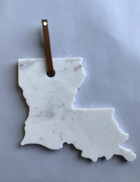 Polished Marble Louisiana Serve Board