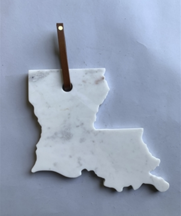 Polished Marble Louisiana Serve Board