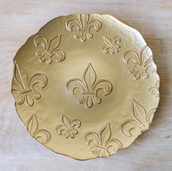 FDL Glass Platter GOLD