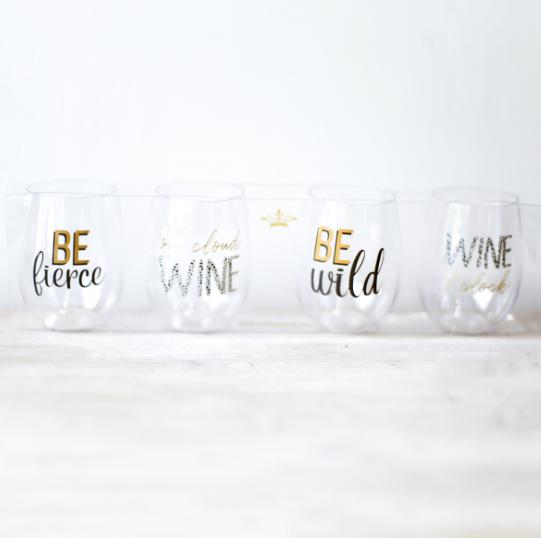 Wine O'Clock To Go Wine Glasses