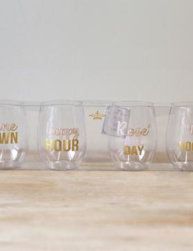 Happy Hour To Go Wine Glasses
