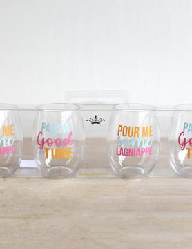 Lagniappe To Go Wine Glasses 15oz