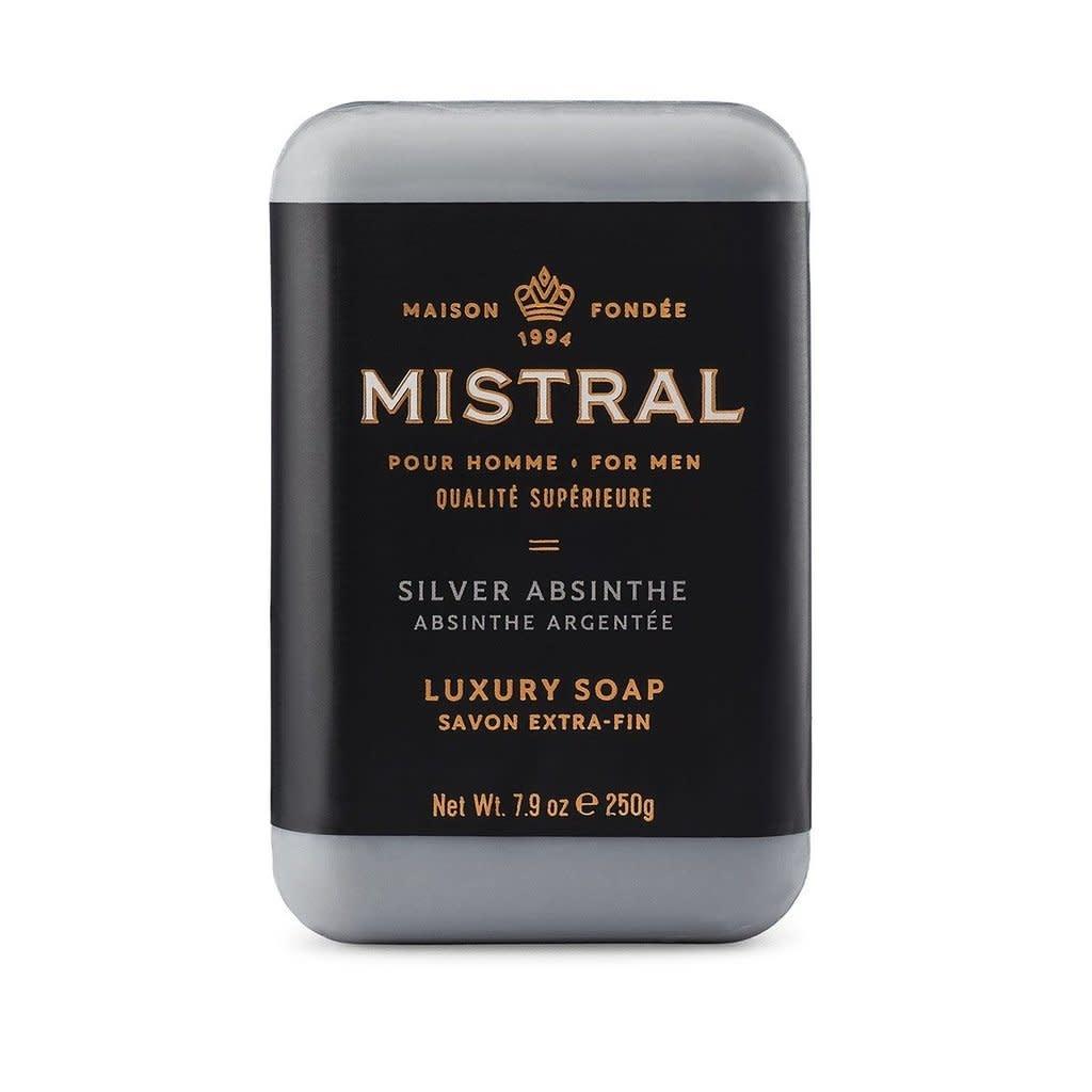 Men's 250g Bar Soap- SILVER ABSINTHE