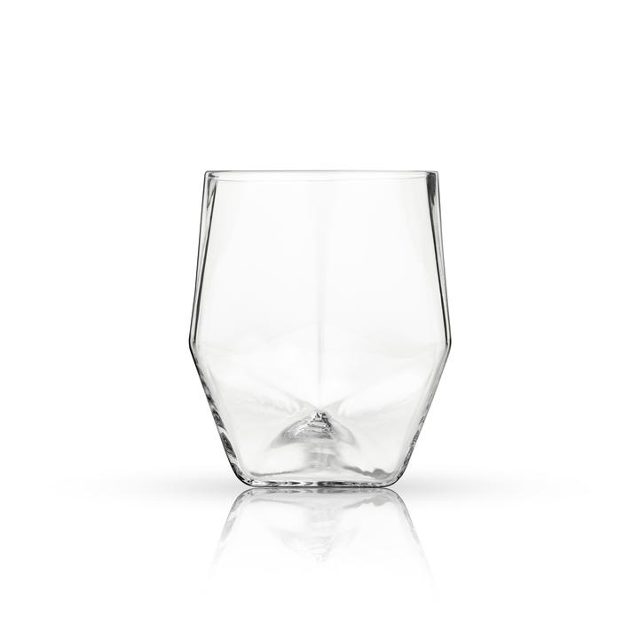 Crystal Faceted Tumblers