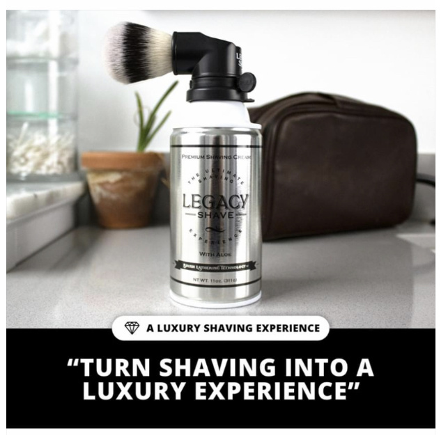 Legacy Shave Brush w/ Legacy Shave Cream