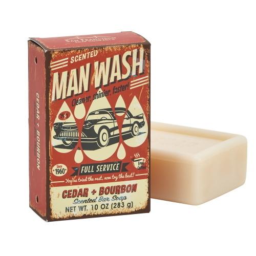 """SFS Cedar & Bourbon """"Man Wash"""" 10oz Bar"""