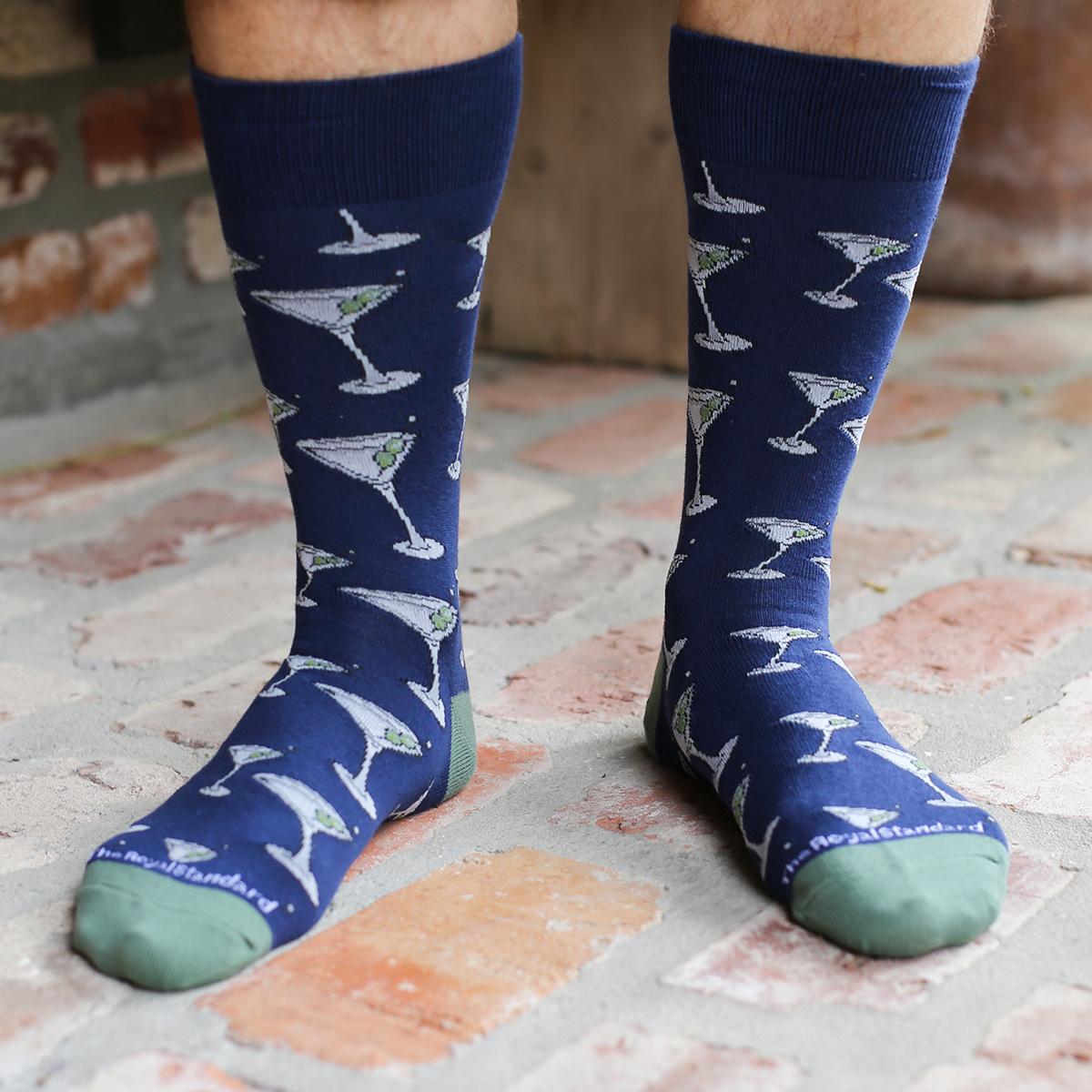 Men's Martini Socks Navy/Green