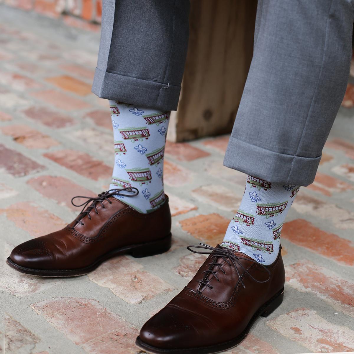 Men's Streetcar Socks Gray/Navy/Sage