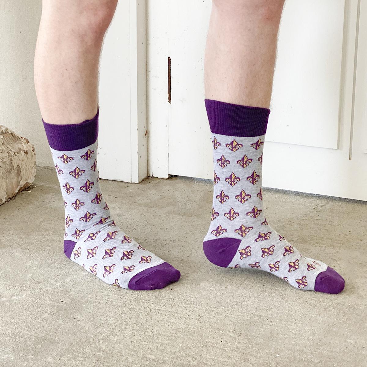 FDL Socks GREY/PURPLE/YELLOW