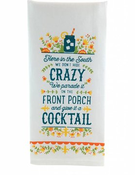 Crazy Cocktail Towel