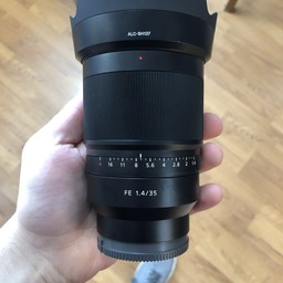 Sony FE 35mm f/1.4 Distagon Zeiss lens