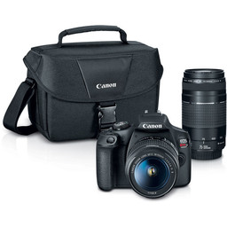 Canon Rebel T7 w/ 18-55mm & 75-300mm Lenses