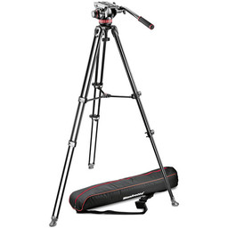 Demo Manfrotto MVH502A Fluid Head and MVT502AM Tripod with Carrying Bag