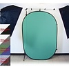 Promaster Patterned Pop-Up Background 6'x7' - Blue / Grey 2 - sided