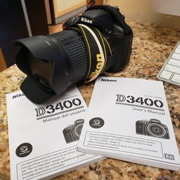 Used Nikon D3400 18-105mm VR kit