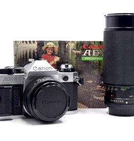 Used Canon AE-1 Program w/ 50mm 1.8 and 35-200mm