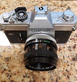 Used Canon FTb film SLR w/ 50mm 1.8 lens