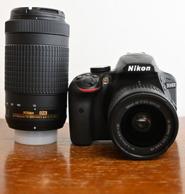 Used Nikon D3400 Two lens kit