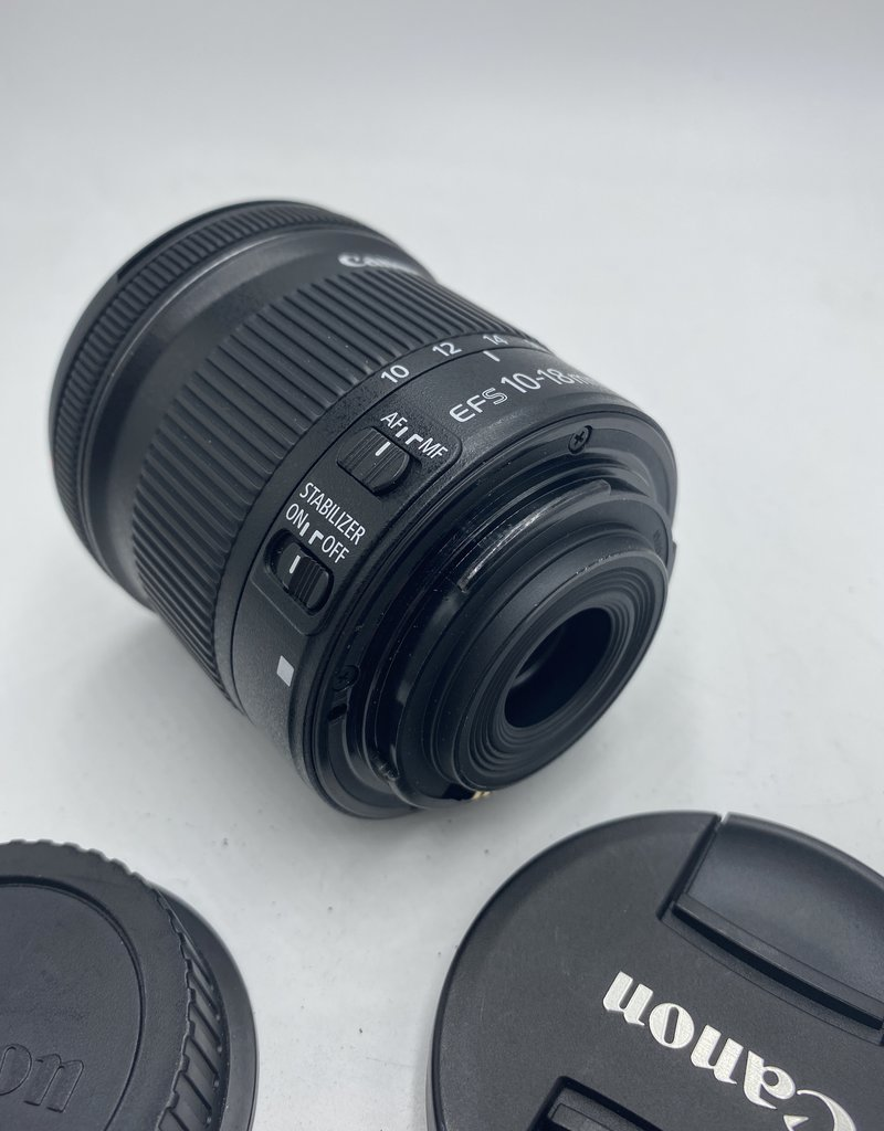 Used Canon EF-S 10-18mm 4.5-5.6 IS STM Lens