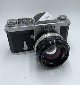 "used Used Nikon F ""Plain Prism"" SLR W/ 50mm f/1.4 Nikkor-sc *Nippon Kogaku*"