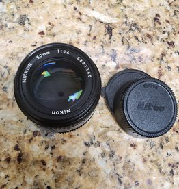 Used Nikon Nikkor 50mm 1.4 ai-s lens (EX+)
