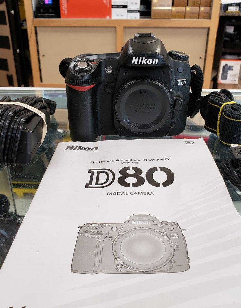 Used Nikon D80 body only [9k clicks]