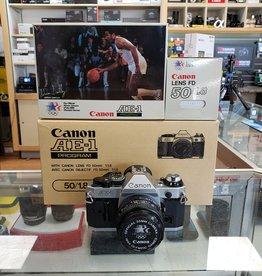 Used Canon AE-1 program w/50mm 1.8 original packaging [Ex+]