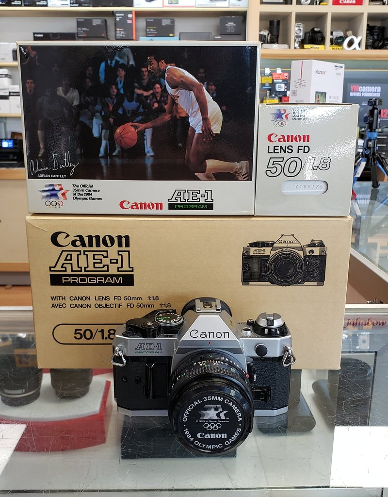 Used Canon AE-1 program w/50mm 1.8 original packaging [Ex+]