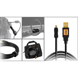 Tether Tools Tether Tools Starter Tethering Kit w/ USB 2.0 Mini-B 5 Pin Cable 15' ORG