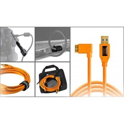 Tether Tools Tether Tools Starter Tethering Kit w/ USB 3.0 Micro-B Right Angle Cable Right 15' ORG