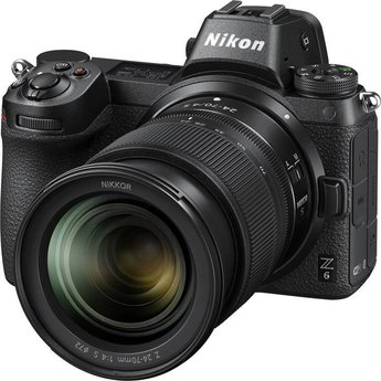 Nikon Nikon Z6 24-70mm f/4 Mirrorless Camera (Lens Kit)