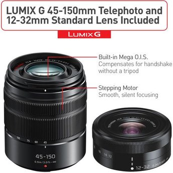 Panasonic Lumix GX85 12-32mm / 45-150mm Kit (DMC-GX85WK)