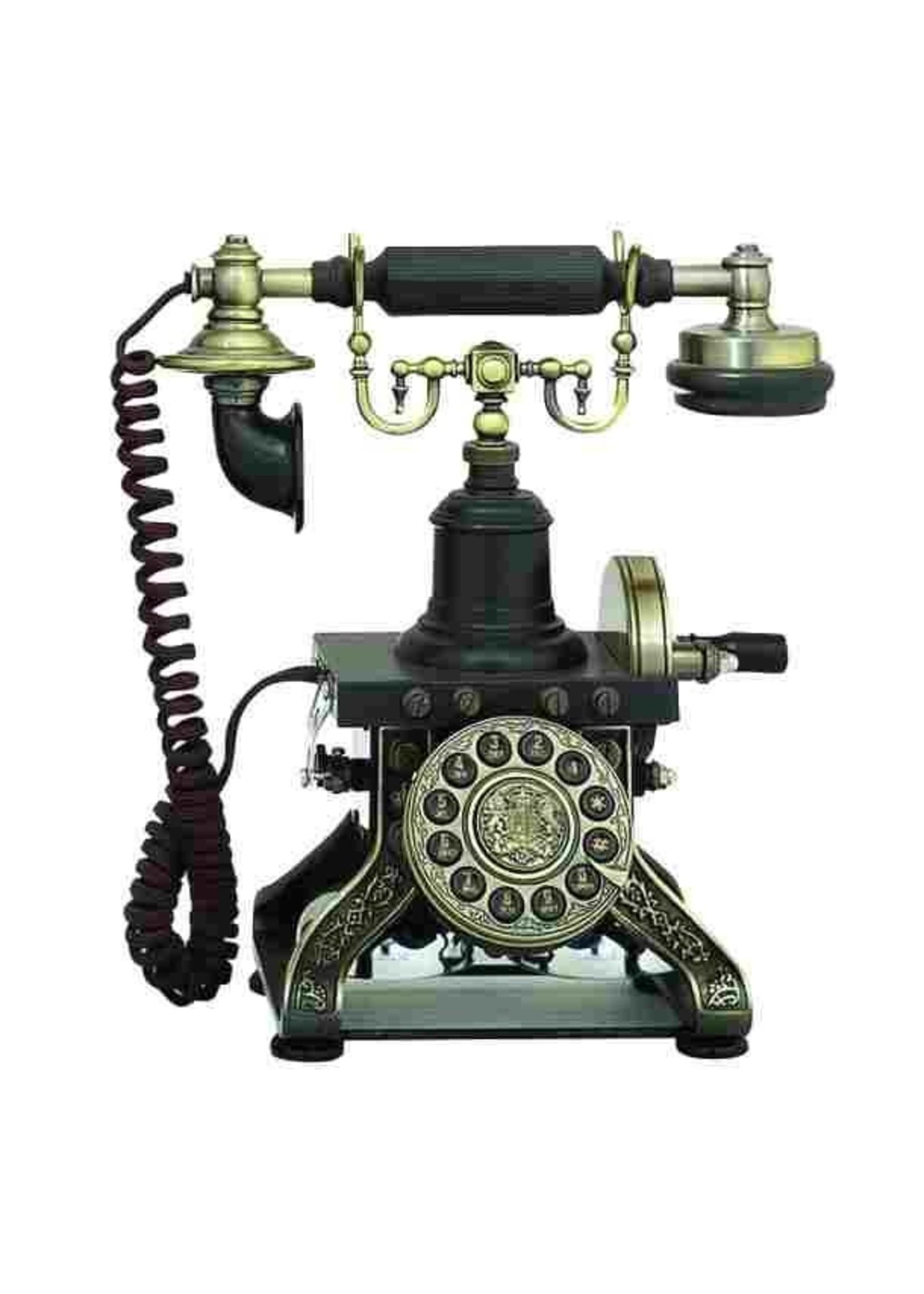 UMA Enterprises 62623 brass antique phone