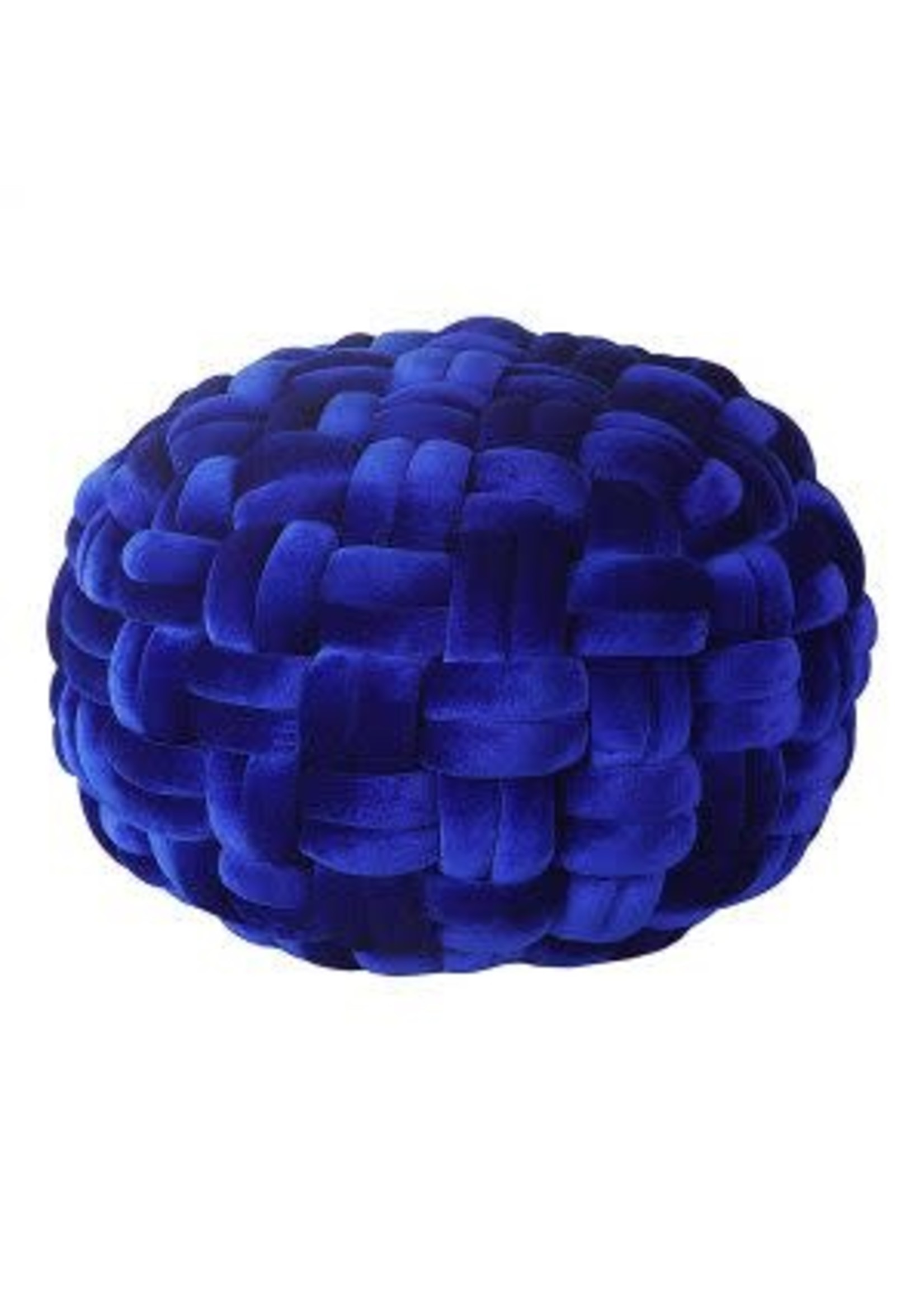 Moes Home Collection PJ Velvet Pouf Royal Blue by MOES