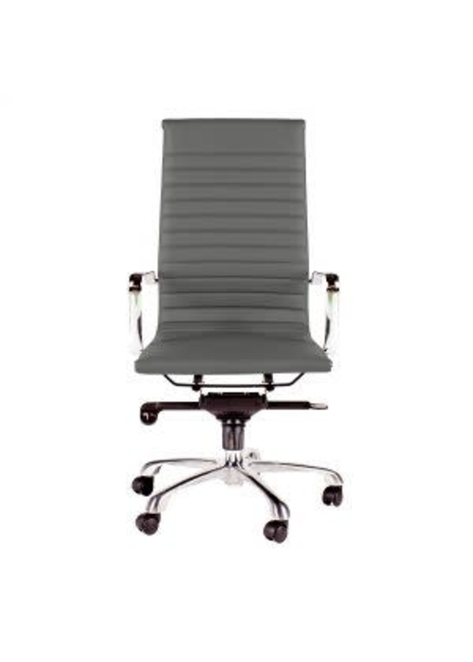 Moes Home Collection ZM-1001-29 MOEs Omega Swivel Office Chair High Back Grey