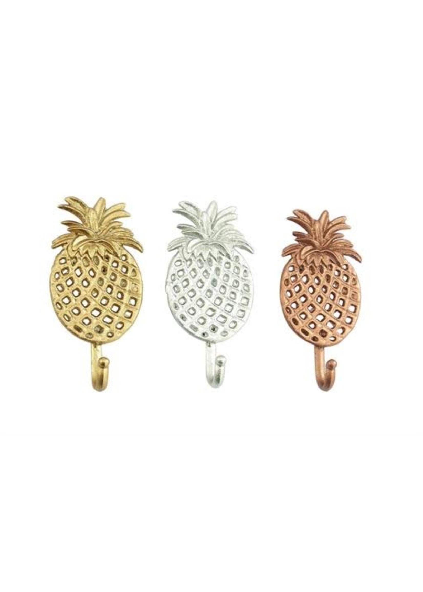 UMA Enterprises Mtl Pineapple Wall Hooks