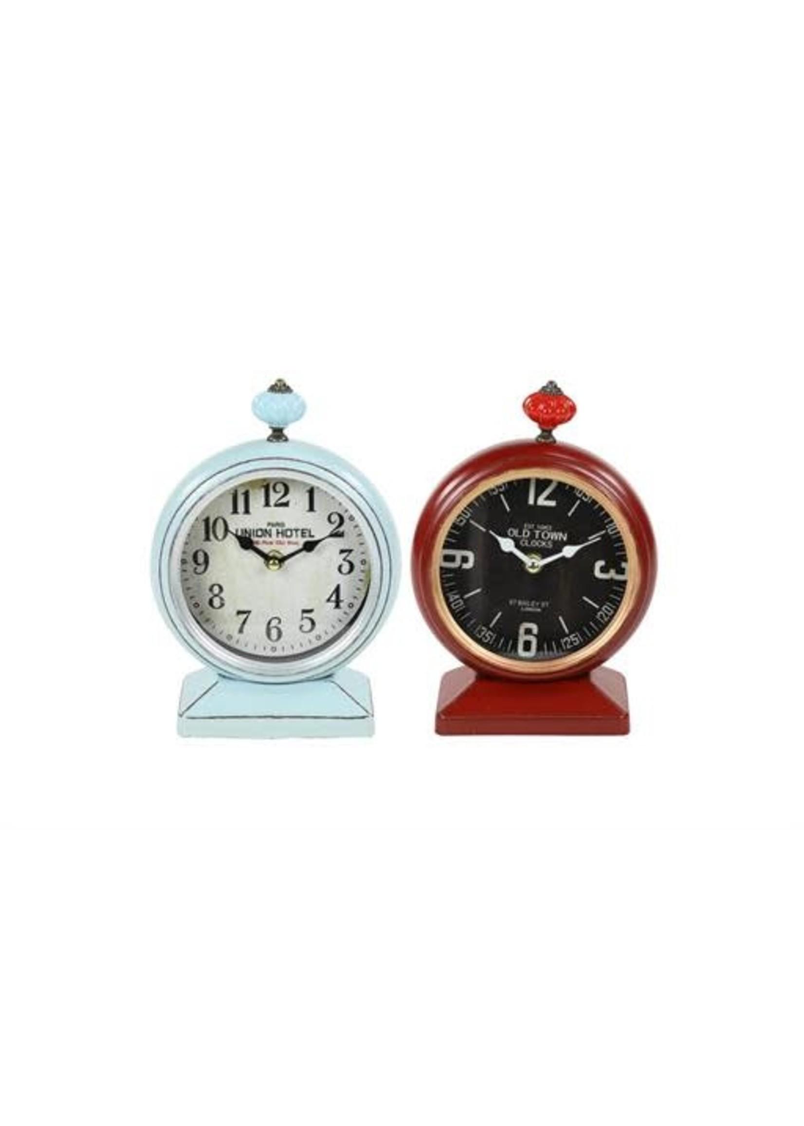 UMA Enterprises Metal Table Clock Teal or Red