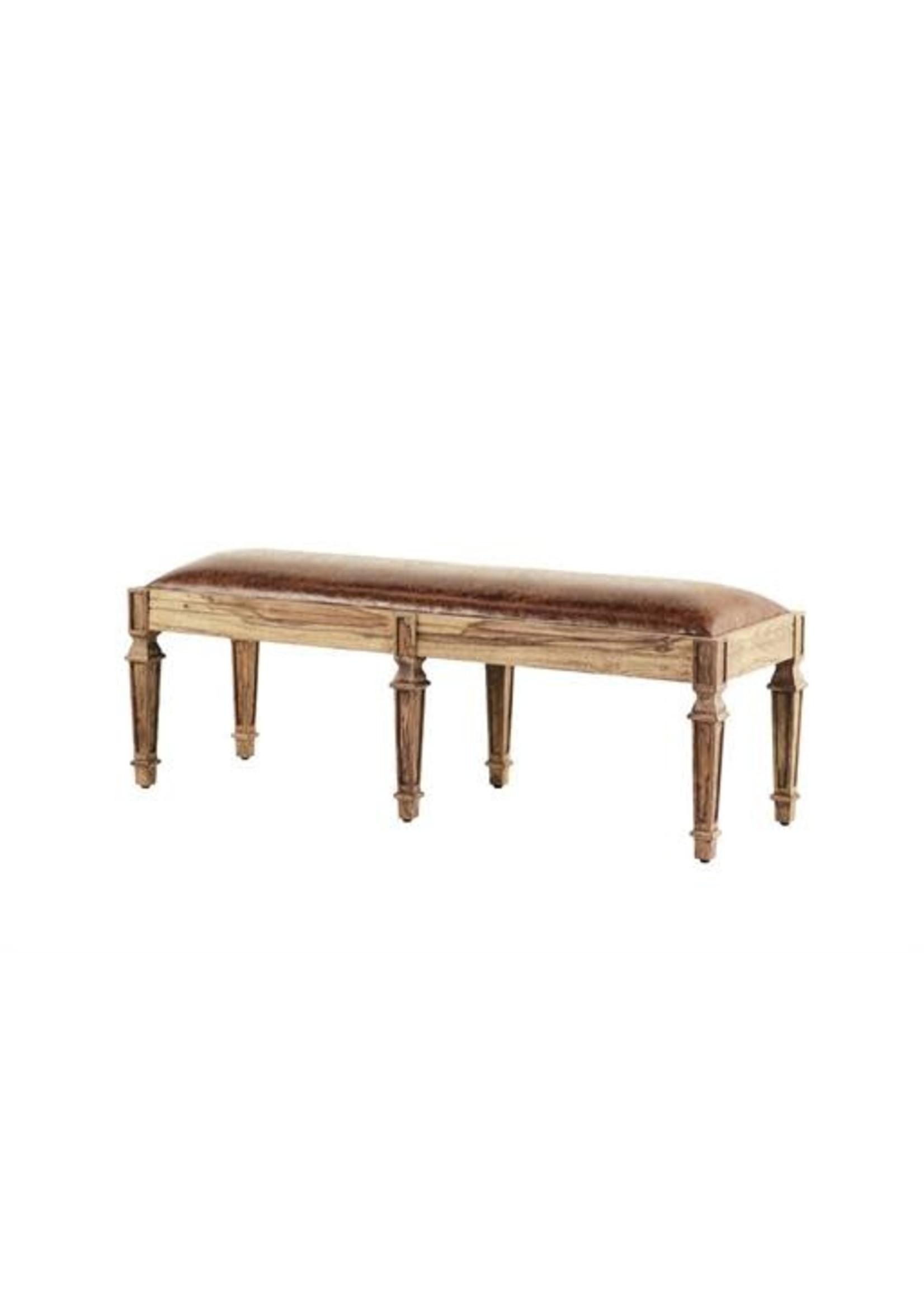 """UMA Enterprises 66123 UMA INC Wood Leather Bench 55"""""""