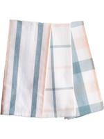 Home Essentials Kitchen Towel Stripe Plaid Smoke Blush Pack of 3