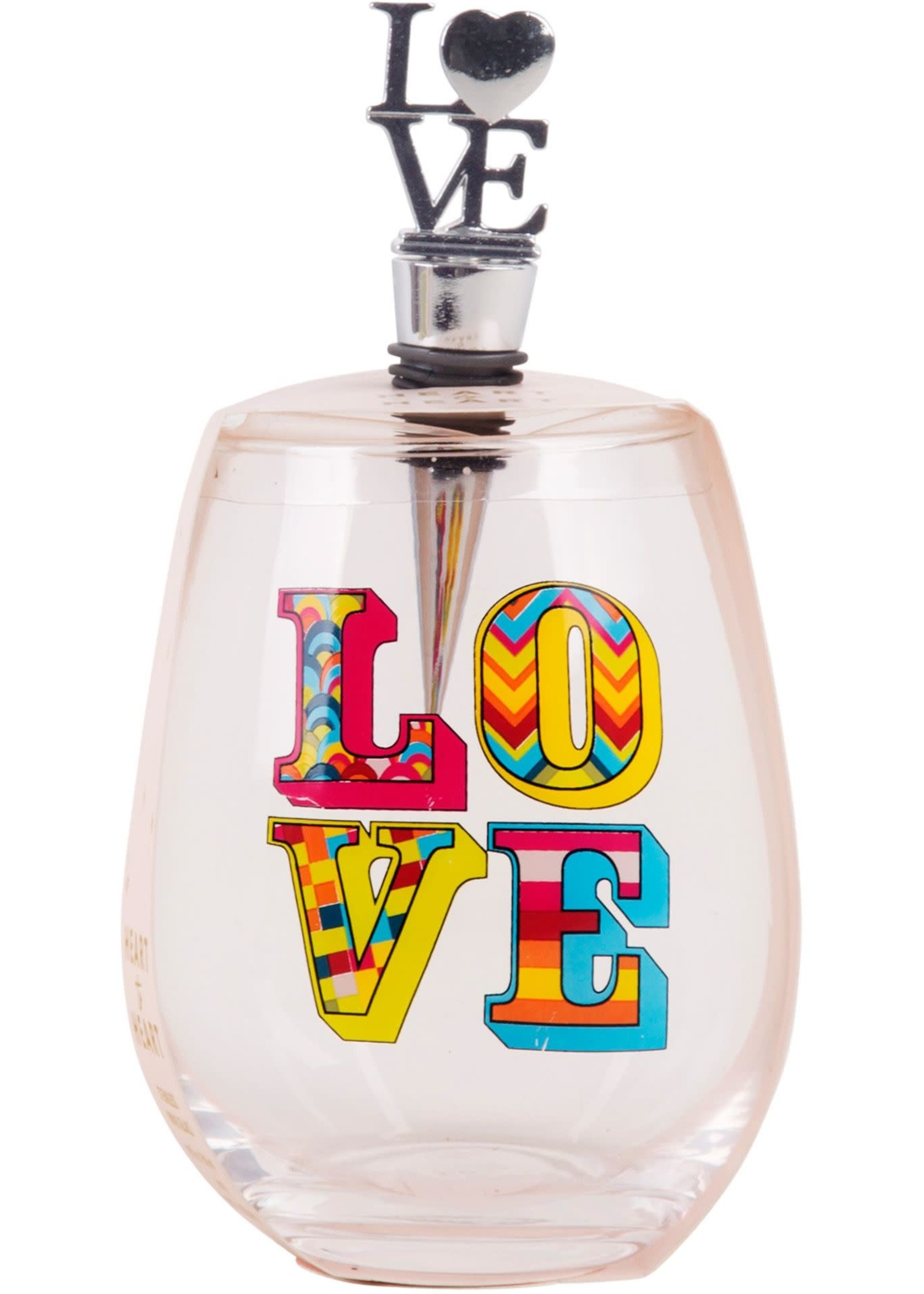 Home Essentials Love Stemless W/Stopper  19 Oz