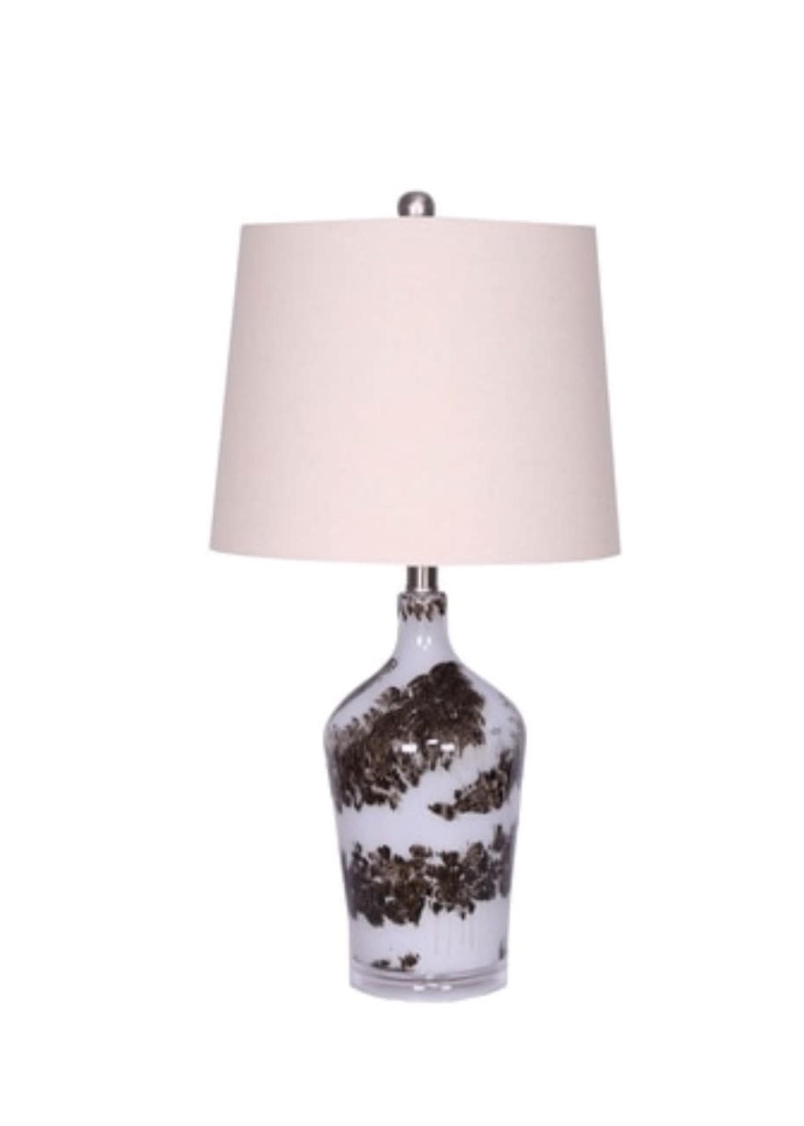 """Sagebrook Home SBH Glass 28"""" Table Lamp Multi BLack"""