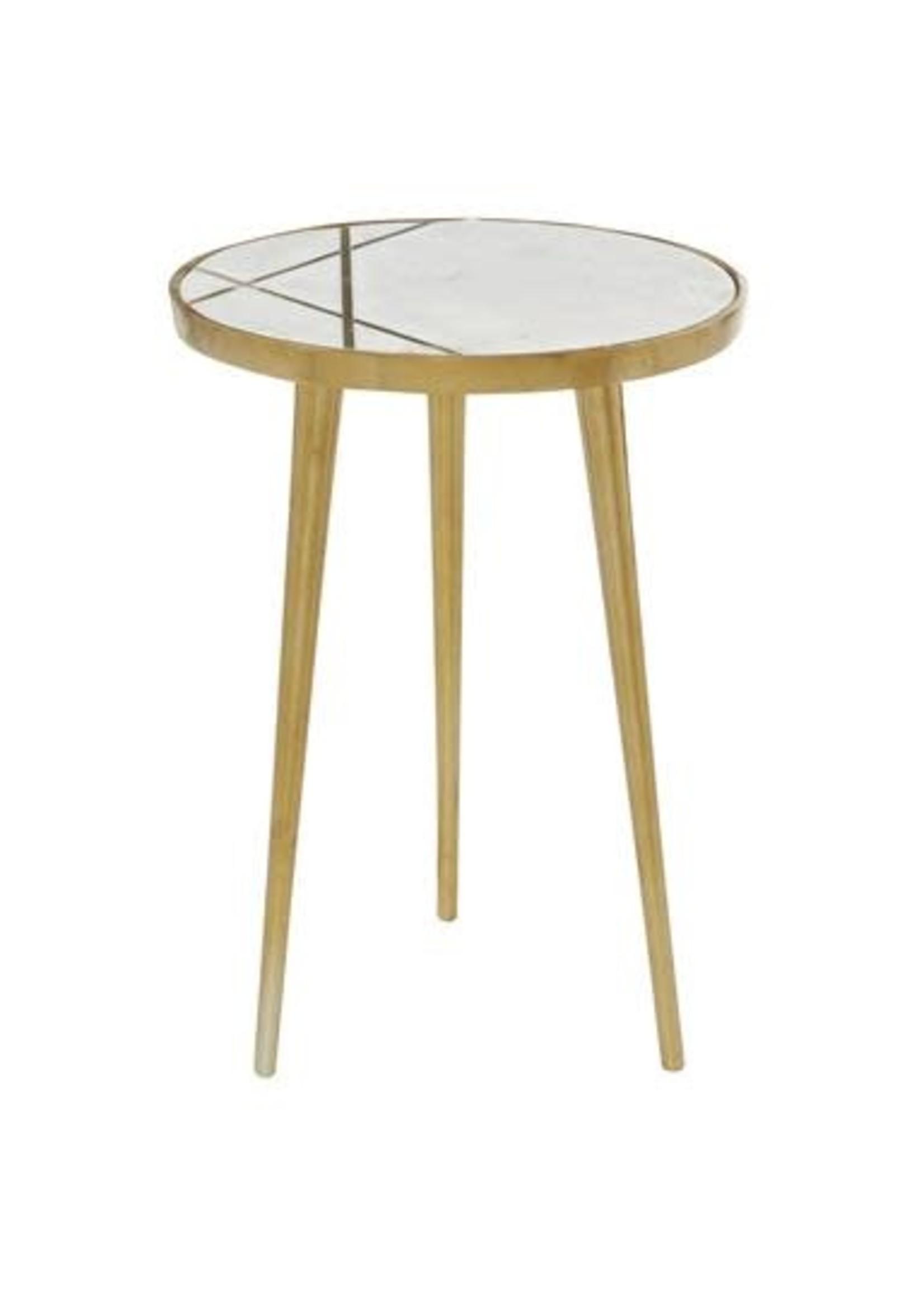 "UMA Enterprises Alum Marble Table 15.5""W 20""H"