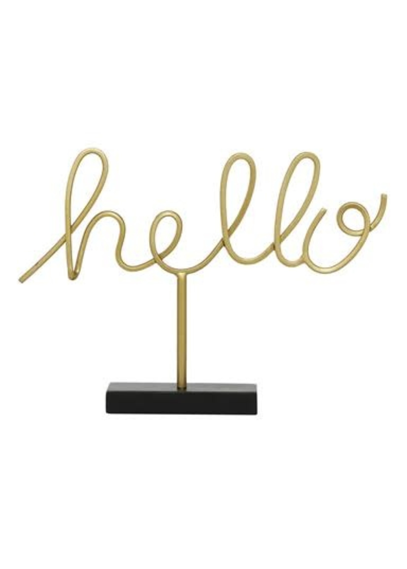 UMA Enterprises Metal Table Top Hello Sign